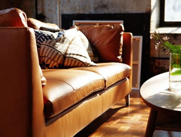 Canapé en cuir de la collection Stockholm 2013 (Ikea)